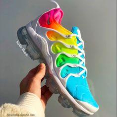 sale retailer c7971 04d59 Bleached Aqua White Nike Vapourmax plus custom by Kylie boon jklcustoms. bigcartel.com Custom