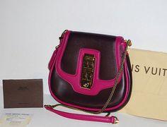 Louis Vuitton Limted Ed Cuir Art Deco Purple Trapeze Bag