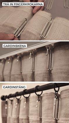 With curtain hooks attached to the back of your curtains you get even for . Sheer Linen Curtains, Pinch Pleat Curtains, Curtains And Draperies, Pleated Curtains, Home Curtains, Curtains Hooks, Ceiling Curtains, Ikea Curtains, Drapery