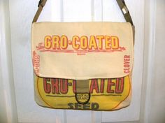 Vintage Gro-Coated seed sack ReCreated by LoriesBags on Etsy