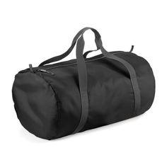 BagBase Packaway Barrel Bag: Combiné pochette de rangement / poche interne. Sangle poignées de transport. Combined stow pouch/internal…