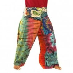 pantalones pescador tailandés - algodón batik