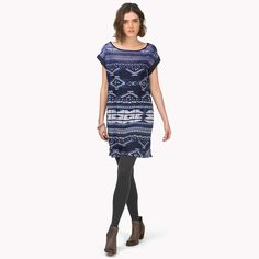 Hilfiger Denim Hawa Printed Dress. This patterned dress is made from a stunningly smooth polyester chiffon blend.