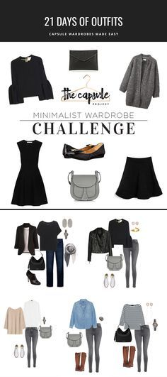 5 outfits you can make from the challenge pieces. Join the challenge to get 21 more outfits based on the Five Piece French Wardrobe. wardrobe How to Dress Better with the Minimalist Wardrobe Challenge — The Capsule Project Capsule Outfits, Fashion Capsule, Mode Outfits, Fashion Outfits, Womens Fashion, Fashion Tips, 30 Outfits, Fashion Ideas, Classic Wardrobe