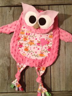 Owl Tag Blanket by TiedByTi on Etsy, $35.00