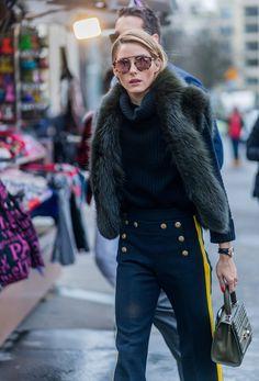Pin for Later: Les Meilleurs Looks Street Style de la Semaine de la Haute Couture  Olivia Palermo.