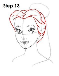 how to draw princess jasmine face step by step