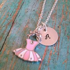 Tutu Charm Necklace  Ballet  Dance  Little by tagsandthingsbyk