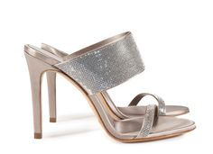 Camelia, crystal 'pavé' mule pipa satin | Pedro Garcia shoes | crystals from Swarovski | Fall Winter 2015 2016 | Made in Spain