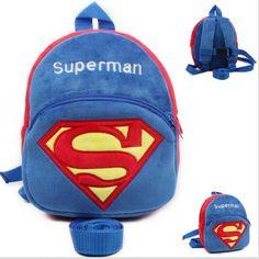 Lembut Superman Bayi Harness Bayi Berjalan Sayap Anak Kiper Anak Ransel Untuk Bayi Laki-laki & Tali Tas anti-hilang Tas bayi 0-3years