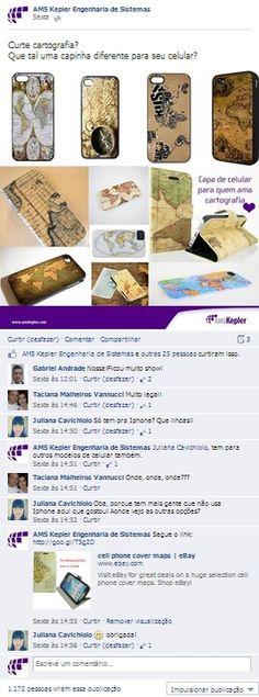 Ideias com mapas na página da empresa no Facebook.