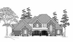 Farm Style House Plans - 4502 Square Foot Home , 2 Story, 4 Bedroom and 3 Bath, 3 Garage Stalls by Monster House Plans - Plan 62-349