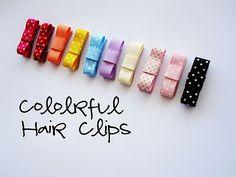 Colorful baby hair clips
