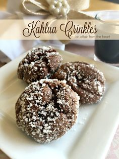 Chocolate-Coffee flavored cookies rolled in Kahlua sugar, and baked to a chewy perfection. This just may be your new favorite cookie!