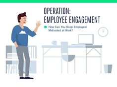How to Keep Employees Motivated at Work? by Socialcast via slideshare - Engagement Happy Employees, How To Motivate Employees, Customer Engagement, Employee Engagement, Engagement Quotes, Engagement Outfits, Industrial And Organizational Psychology, Positive Work Environment, Prayer Poems