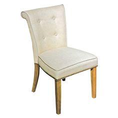 Natural Linen Anneau Dining Chair