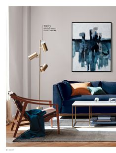 - February Catalog 2019 - Page Blue Couch Living Room, Living Room Table Sets, Cozy Living Rooms, Living Room Chairs, Living Room Decor, Small Apartment Interior, Living Room Interior, Room Colors, Living Room Designs