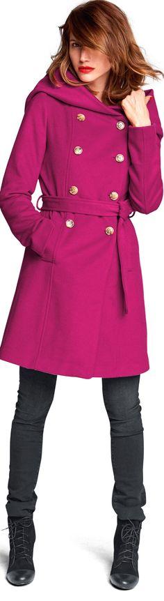 Latest Fashion Trend: Fun Coats for Fall 2014 / Winter 2015 - magenta coat