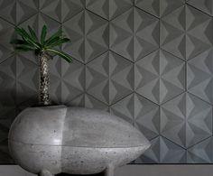 Poured concrete wall tile...so textural!