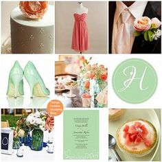 Mint and Coral Wedding Theme -- these are my wedding colors right here