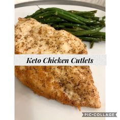 Moist Chicken, Keto Chicken, Chicken Cutlets, Yummy Eats, Saturated Fat, Low Carb Recipes, Green Beans, Nutrition, Stuffed Peppers