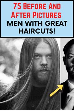 Back in the 90s, long hair and wild beards were totally in style, but times change. We think these men all look so much better now. Although, don't just take our word for it. Check out the before and after pictures and you'll see what we mean. The images speak for themselves! Great Haircuts, Haircuts For Men, Viral Trend, Before And After Pictures, Guy Pictures, Strike A Pose, Casual Outfits, Hair Cuts, Poses