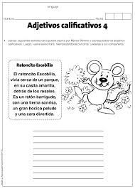 Hola compañeros docentes proporcionamos excelente material para trabajar los adjetivos calificativos, este es un cuadernillo muy útil para practicar y