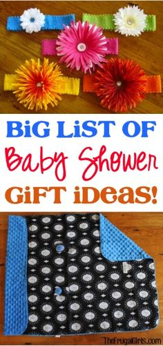 Heading to a Baby Shower?? Check out this BIG List of Fun Baby Shower Gift Ideas! New Moms and Babies will love being showered with all these fun gifts!