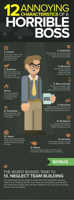 12 annoying characteristics of a horrible #boss