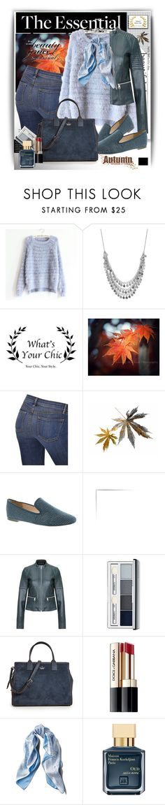 """""""Autumn with WhatsYourChic"""" by manuela-cdl ❤ liked on Polyvore featuring J Brand, BCBGeneration, Clinique, Kate Spade, Dolce&Gabbana, Asprey, John Lewis and fallfashion"""