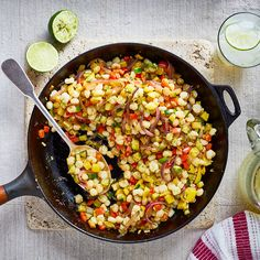 Enjoy a tasty and delicious meal with your loved ones. Learn how to make Skillet-on-the-grill sautéed hominy & see the Smartpoints value of this great recipe. Hominy Recipes, Ww Recipes, Great Recipes, Favorite Recipes, Healthy Recipes, Healthy Eats, Delicious Recipes, Hominy Casserole, Vegan Casserole