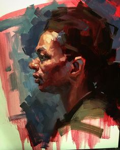 Expressive painting demo - 4 hours from life. Good class today in SF.
