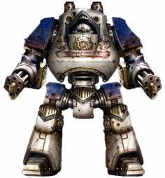 Pre-Heresy World Eaters Mortis Contemptor with twin Kheres Assault Cannons. Horus Heresy Book 1 - Betrayal