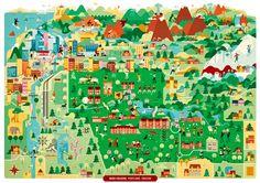 Vesa Sammalisto - Map of Reed college, Portland Oregon