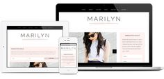 Marilyn WordPress Theme - Responsive.  For use on self-hosted WordPress.org sites.