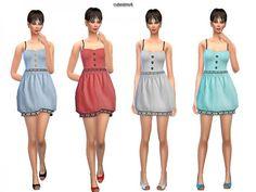 The Sims Resource: Ballon Heart Minidress Set by Sweetsims4 • Sims 4 Downloads