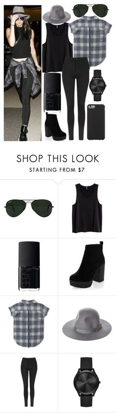 """kendall inspired"" by j-n-a ❤ liked on Polyvore featuring Ray-Ban, NARS Cosmetics, New Look, Brixton, Topshop, Michael Kors and Case-Mate"