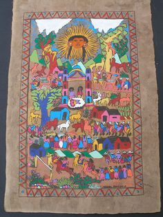 Amate Bark Painting - Folk Art