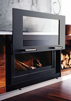 Riva studio 3 freestanding wood burning stove new home for Contemporary wood burning fireplace inserts