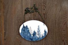 Large Timber Necklace in Lunar Blue and Graphite  por MeghannRader, $85.00