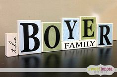 Personalized Family Name Block Set, Wedding Gift, Housewarming, Home Decor on Etsy, $38.95