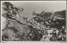 Aerial View, Polperro, Cornwall, 1952 - Aero Pictorial RP Postcard
