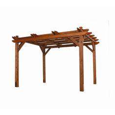 Available at Lowe's.  Treated wood pergola.  (Hint, Richard)