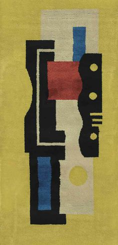 """After a design by Fernand Leger (1881-1955)  Tapis """"Jaune"""" No. 9 © 2014 Artists Rights Society (ARS), New York / ADAGP, Paris."""