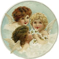 L-o-o-k a-t t-h-a-t! Christmas cherubs can't get much sweeter than these, can they :-D I follow Julie at The Old Design Shop, and adore so many of the graphics she posts. When I got a Christmas p...