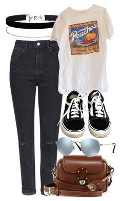 """Untitled #5294"" by rachellouisewilliamson on Polyvore featuring Topshop, Miss Selfridge, Vans, Ralph Lauren and Ray-Ban"
