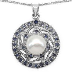 Edler 3,54 Carat Iolith Perlen Anhänger 925 Silber Collier Kette Wassersaphir