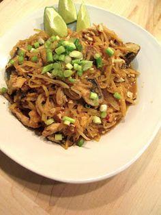Pad thai spaghetti squash, recipe & caloric facts.