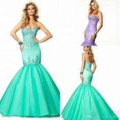 2015 Newest Hot Sale Sweetheart Crystal Beaded Floor-length Custom Made Green Long Mermaid Evening Prom Dresses from Weddingpalace,$96.34 | DHgate.com