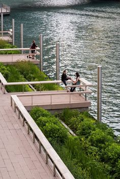 waterfront landscape Drone footage captures bustling Chicago Riverwalk one year on Blog Architecture, Landscape Architecture Design, Landscape Plans, Urban Landscape, Landscape Bricks, Landscape Steps, Architecture Sketches, Japanese Landscape, Architecture Diagrams